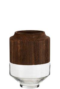 3570380-00000 Vase dunkelbraun S
