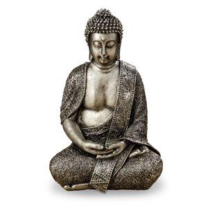 3219454-00000 Buddha Nava H38cm silber Kunst