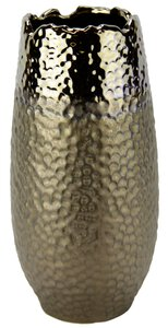 3240739-00000 Keramik-Vase messingfarben