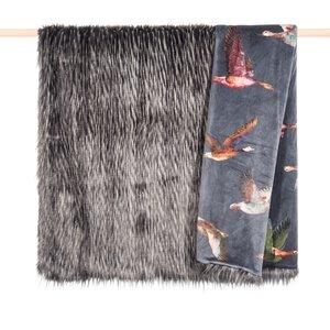 3447760-00000 Decke Duck faux fur grau