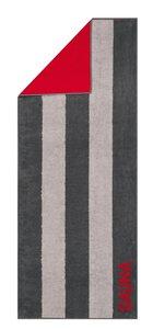 3084833-00000 Saunatuch anthrazit/rot
