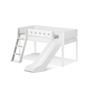 48 Flexa White Spielbett mit Rutsche und schräger Leiter M021348-00000
