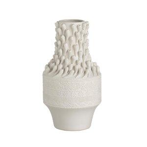"""3485307-00000 Vase """"Muschel"""" weiß"""