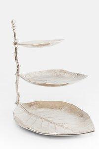 "3147562-00000 Etagere ""Leaf"" silber"