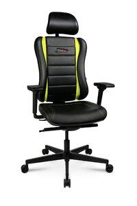 3318004-00000 Drehstuhl Pro schwarz/gelbgrün