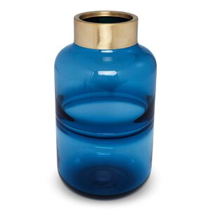 "3320499-00000 Vase ""Positano Belly"" blau"