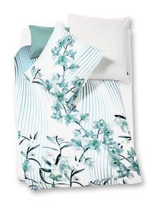 81 Fleuresse Bed Art S Blumenzweige azur