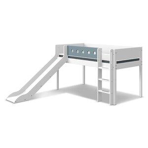 48 Flexa White Spielbett mit Rutsche und gerader Leiter M021347-00000