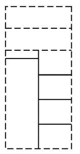 3313134-00001 T-Einteilung für 80er Element