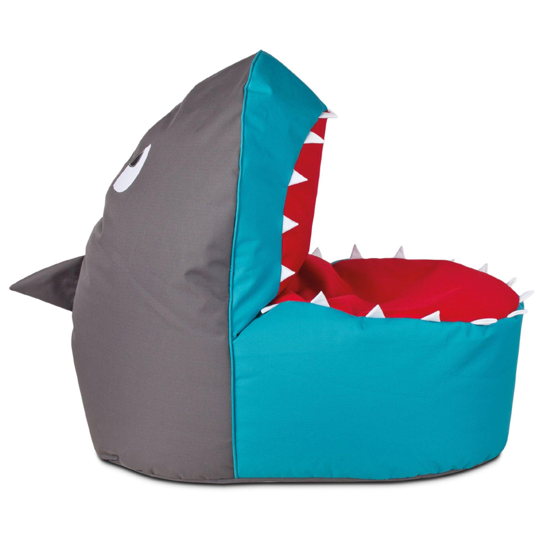 Bunter Sitzsack Shark Brava