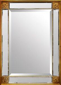 """3563027-00000 Rahmenspiegel """"Cäsar Gold"""""""