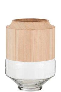 3570383-00000 Vase mit Holzeinsatz M
