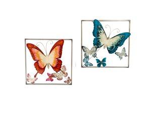 3213835-00000 Wanddekor Schmetterling Metall
