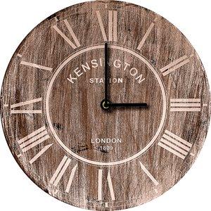 3308358-00000 Klassik Uhr UnifarbeBrown Cloc