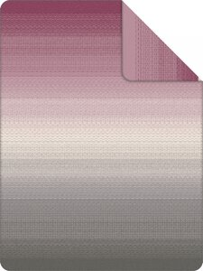 3557387-00000 Decke Benin Jacquard grau/rosa
