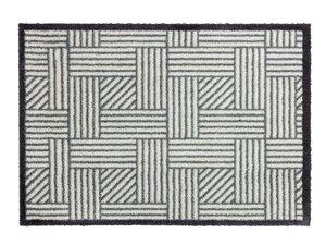 46- Manhattan 1689-004 004 Streifengitter silber-grau M024950-00000