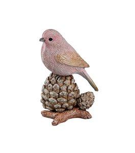 3536525-00000 Vogel auf Frucht rosa