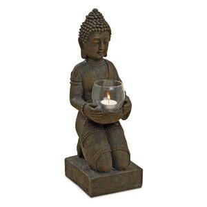 2426418-00000 Buddha mit Windlicht 44cm