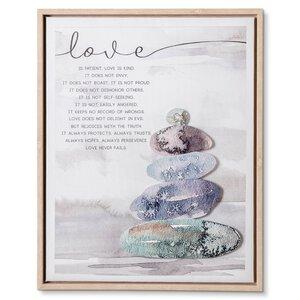 """3459894-00000 Kunstdruck """"Steine Love"""""""