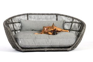 3567572-00000 Hundesofa Prado Smooth Black