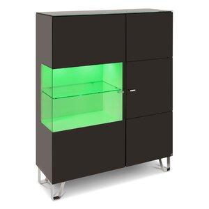 40 10 Cube Highboard schwarz Klarglas 1GT 110x145