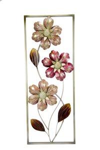 """3321528-00000 Metall-Wanddeko """"Blumen"""" 47 cm"""