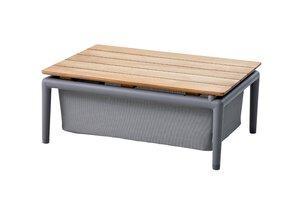 3119023-00003 Box Tisch m. Teak Tischplatte