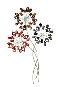 """3321531-00000 Metall-Wanddeko """"Blumen"""" 71 cm"""