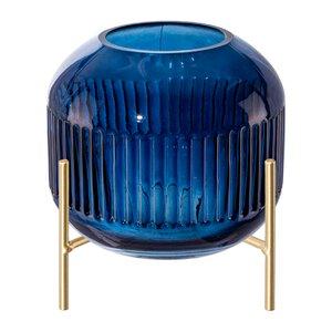 "3531399-00000 Vase ""Bombonera"" dunkelblau"