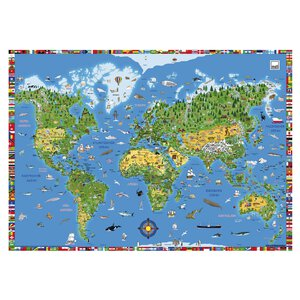 2626236-00001 Schreibunterlage Weltkarte