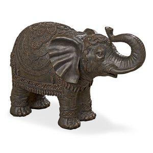 3219684-00000 Elefant H30 L45cm braun Kunsth