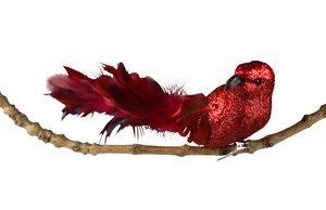 3536472-00000 Vogel auf Clip rot