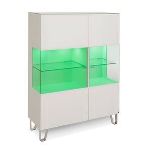 40 10 Cube Highboard weiß Klarglas