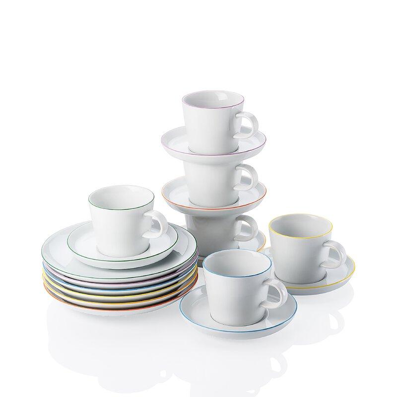 Kaffeeservice - Colori 18tlg. - Weiß   Online kaufen bei