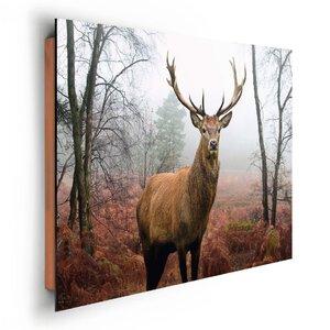 2954579-00000 Hirsch im Wald 90x60cm