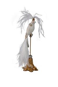 3368115-00000 Vogel weiß Perlen auf Ständer