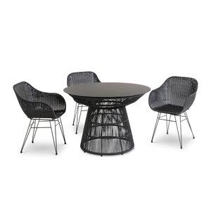 3589152-00000 Tischgruppe Schwarz