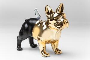 3270638-00000 Spardose Bulldog Gold-Schwarz