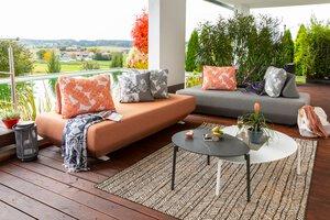3588330-00000 Set Sofa-Block grau/orange Tis