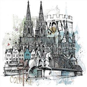 3565211-00000 Köln Köln Collage 30x30 cm