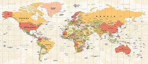 3308036-00000 Städte WeltkarteContinents of