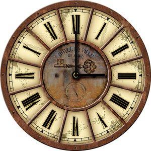 3308353-00000 Klassik Uhr UnifarbeBrown Cloc
