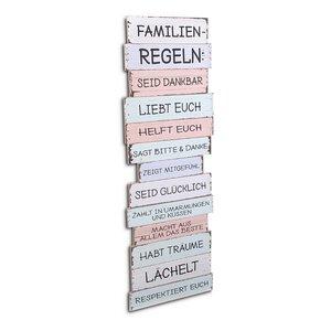 3188062-00000 Wanddeko Familienregeln scandi
