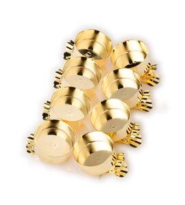3538661-00000 Clip-Teelichthalter gold 8-tlg