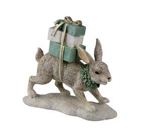 3536515-00000 Hase mit Geschenk weiß