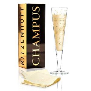 3443617-00000 Champagnerglas mit Stoffservie