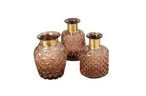 3219005-00000 Vase Stratos 13x18 cm violett