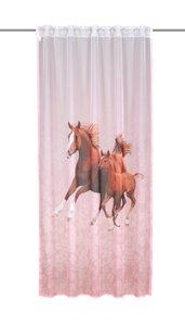 3556368-00000 Dekoschal Pferde pink