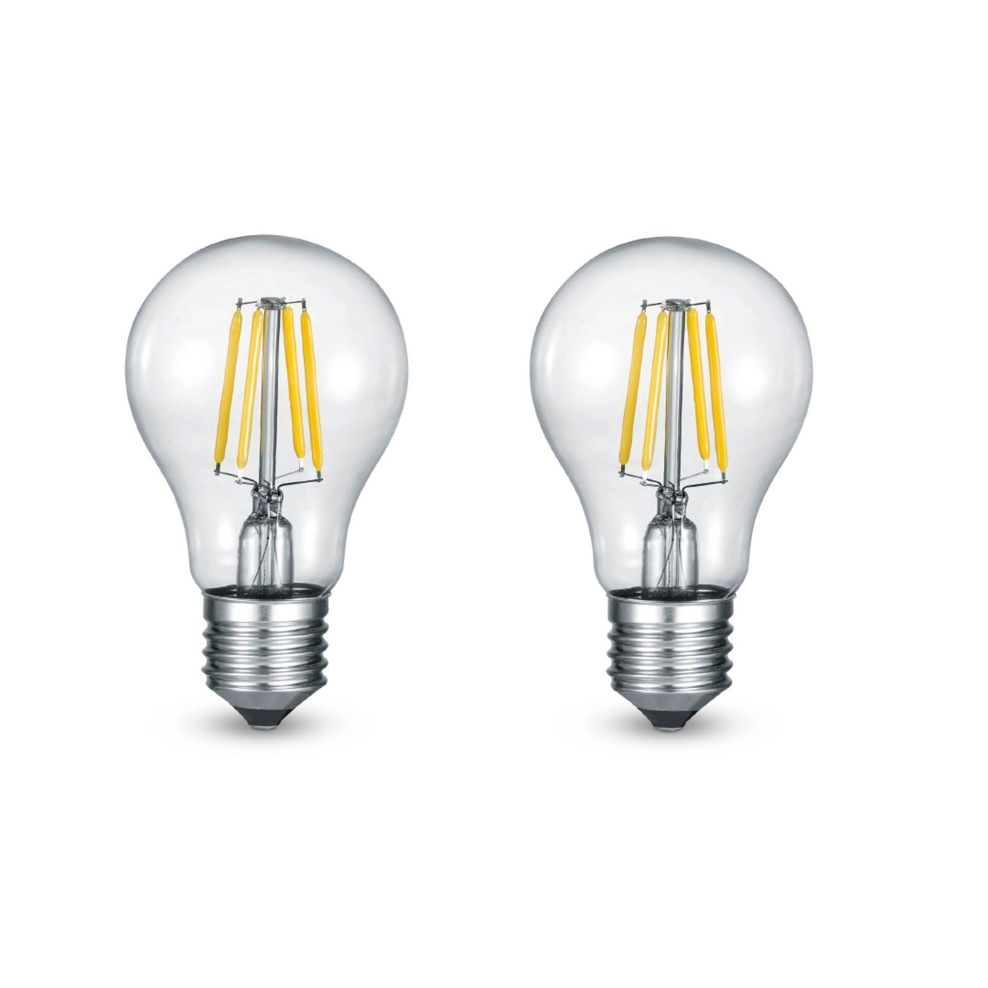 LED Birne klar, E27, A+