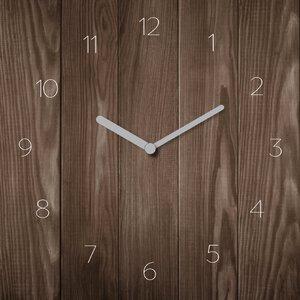 3308290-00000 Glas Uhr Unifarbedark wood